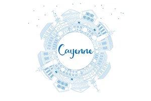Outline Cayenne Skyline
