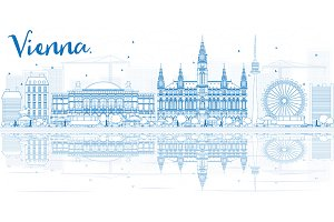 Outline Vienna Skyline