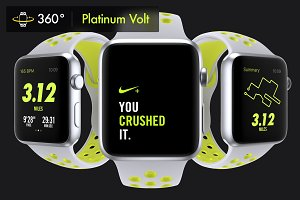 340Apple Watch Nike Platinum Mockups