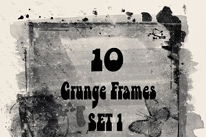 10 High Res Grunge Frames Set