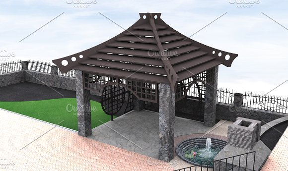 Gazebo Design Ideas 3D Illustration