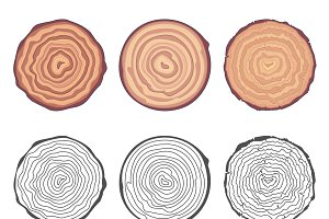 Natural tree rings