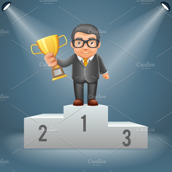 Podium Businessman