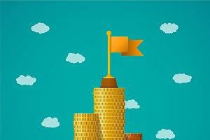Financial leadership concept