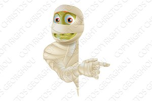 Halloween Mummy Pointing