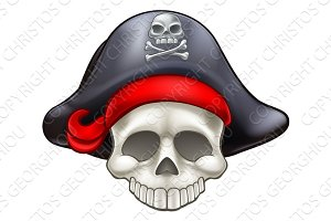 Pirate Skull Cartoon