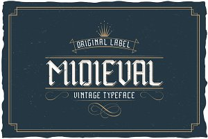 Midieval  Vintage Label Typeface