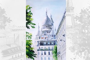 Watercolor Paris