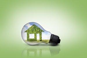 House inside a light bulb