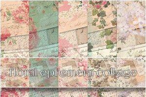 Vintage Ephemera & Floral Paper Set
