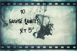 10 Retro Grunge Frames Set