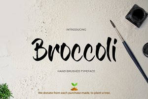 Broccoli Brush Font