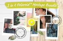 2 in 1 Polaroid™ Mockups Bundle