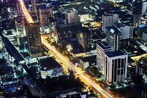 Night Bangkok cityscape