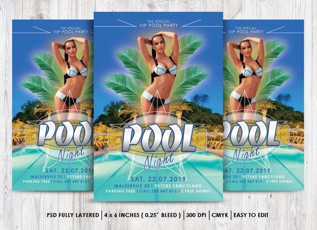 pool party flyer psd flyer templates creative market