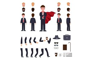 Man in Suit with Mantle. Character Creation Set