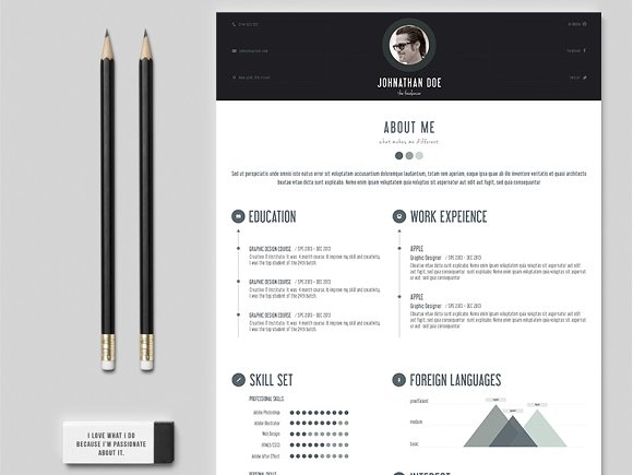 professional personal resume resume templates creative market