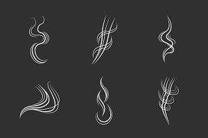 Smoke lines on black background