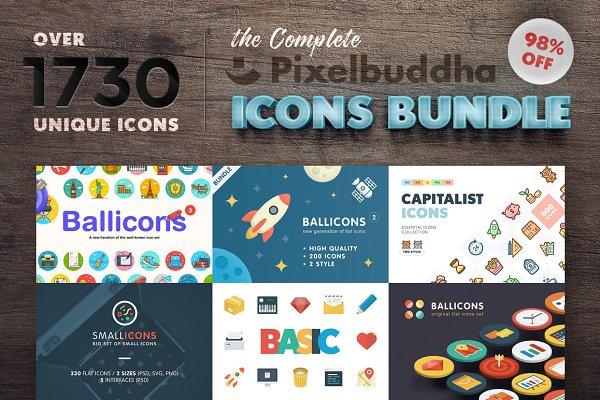 Complete Pixelbuddha Icons Bundle