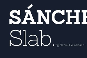 Sánchez Slab Family - 30% off!
