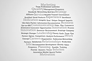 Group of marketing terms