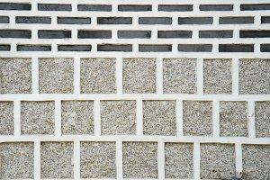 asian style brick wall