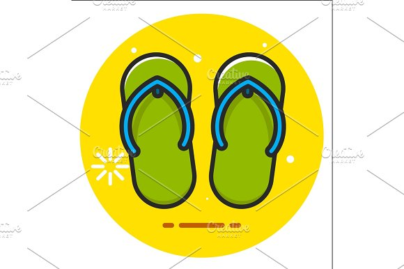 Beach Slippers Icon
