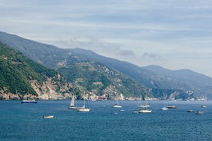 Boats and yachts in Liguria sea