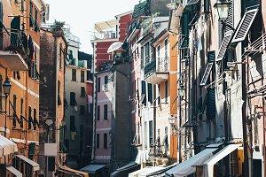 Beautiful narrow street in Vernazza