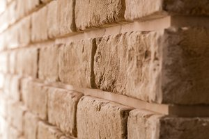 brick wall in diagonal