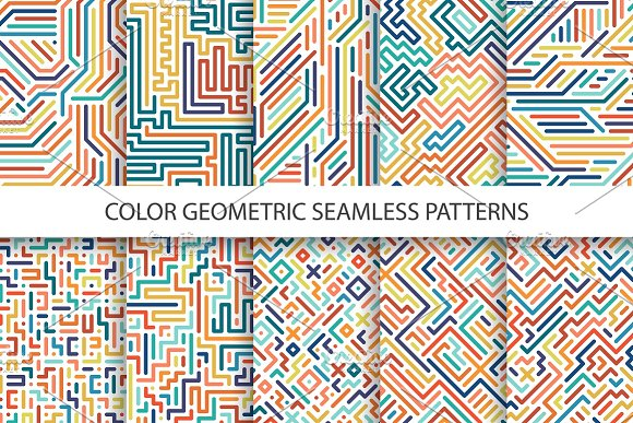 Colorful Geometric Striped Patterns