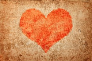 grunge heart. Valentine's Day