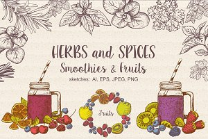 Set: Spices, Smoothies, Fruits