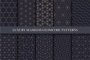 Ornamental luxury seamless patterns