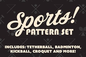 Sports Pattern & Icon Set