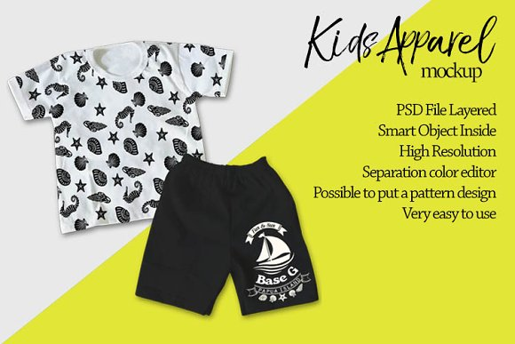 Download Kids Apparel Mockup
