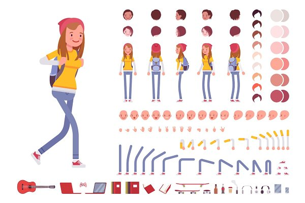 Teenager girl character creation se…