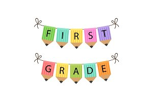 Cute Back to School theme bunting