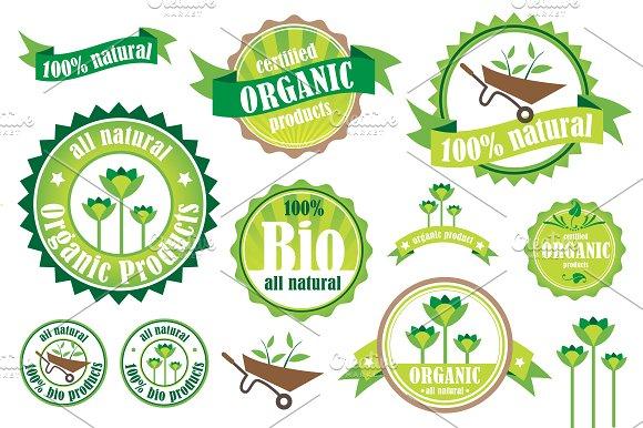 Organic Bio Natural Badges
