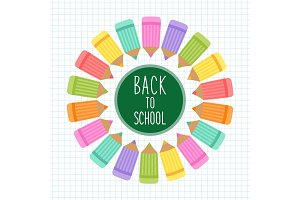 Cute Back to School theme frame