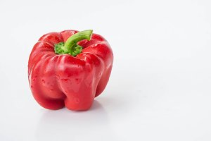 sweet red pepper raw vegetables
