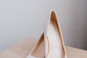 Details of the bride. shoes of bride