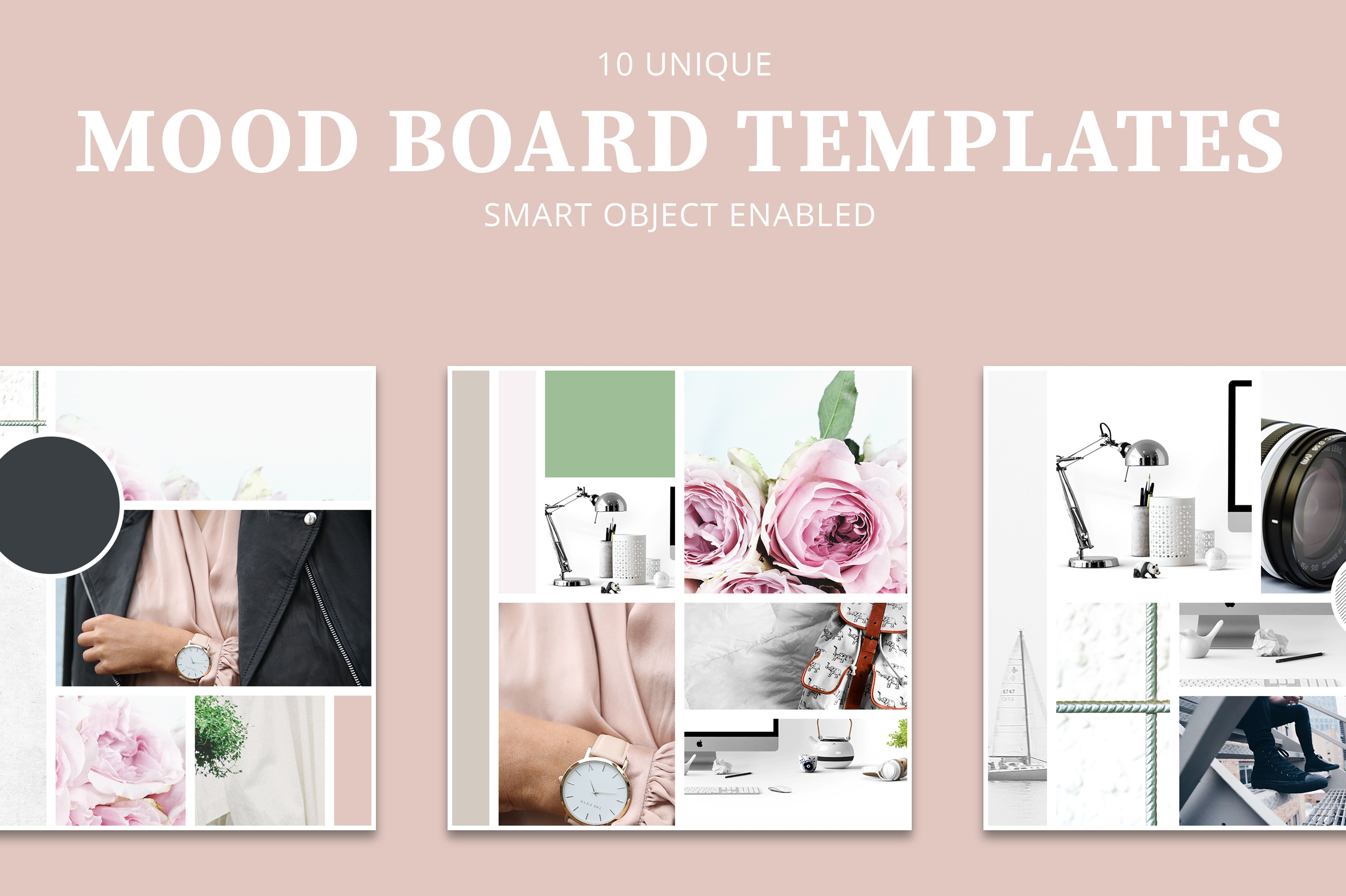Mood board templates instagram templates creative market for Fashion mood board template