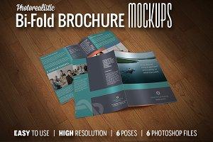 Premium Bi-Fold Brochure Mockups