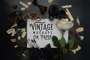 Vintage Mockups On Paper