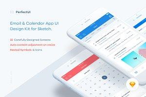 Email & Calendar UI/UX Kit (Sketch)