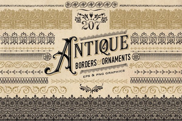 Antique Borders and Ornaments