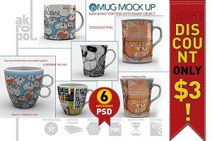 6 Mug Mock Up
