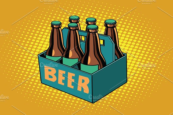Beer Packaging Illustration