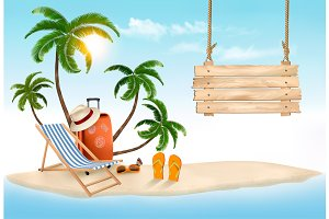 Summer vacation concept background